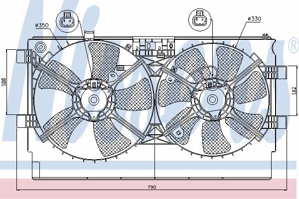 Вентилятор охлаждения NISSENS 85635