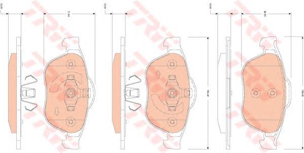 Тормозные колодки TRW GDB1823