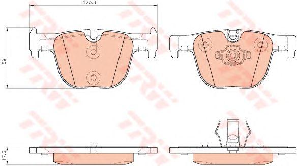 Тормозные колодки TRW GDB1937
