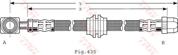 Тормозной шланг TRW PHD479
