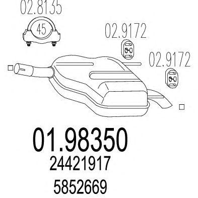 Глушитель MTS 01.98350