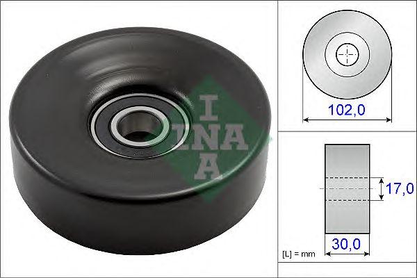 Натяжной ролик поликлинового ремня INA 531 0831 10