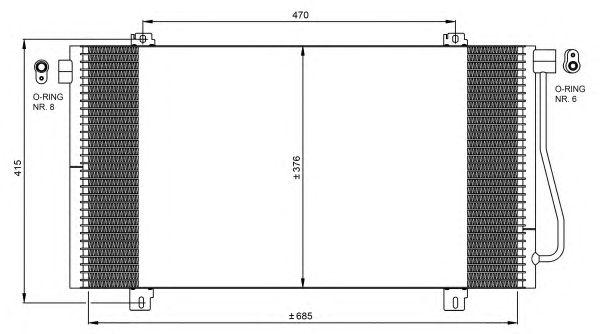 Радиатор кондиционера NRF 350030