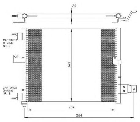 Радиатор кондиционера NRF 35360