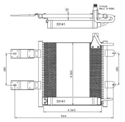Радиатор кондиционера NRF 35368