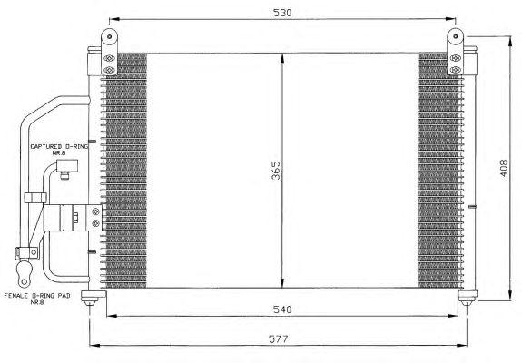 Радиатор кондиционера NRF 35393