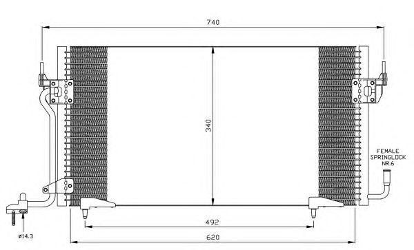 Радиатор кондиционера NRF 35439