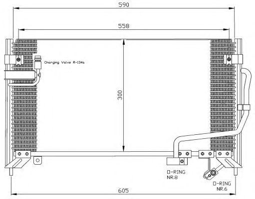 Радиатор кондиционера NRF 35650