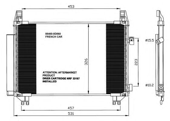 Радиатор кондиционера NRF 35654