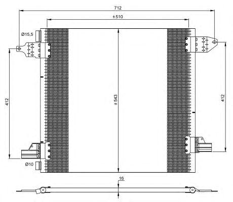 Радиатор кондиционера NRF 35702