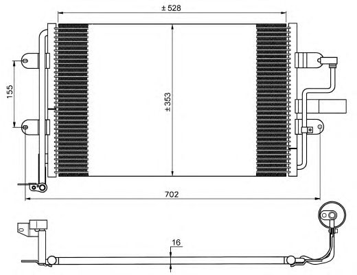 Радиатор кондиционера NRF 35733