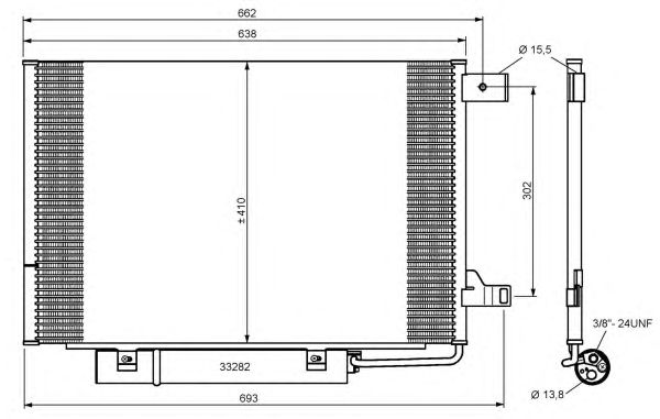 Радиатор кондиционера NRF 35759