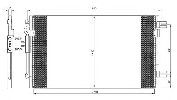 Радиатор кондиционера NRF 35799