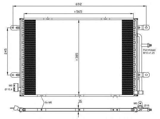 Радиатор кондиционера NRF 35841