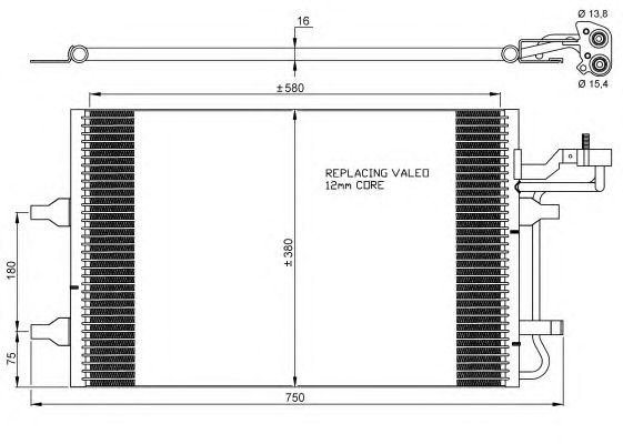 Радиатор кондиционера NRF 35842