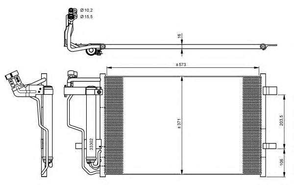 Радиатор кондиционера NRF 35922