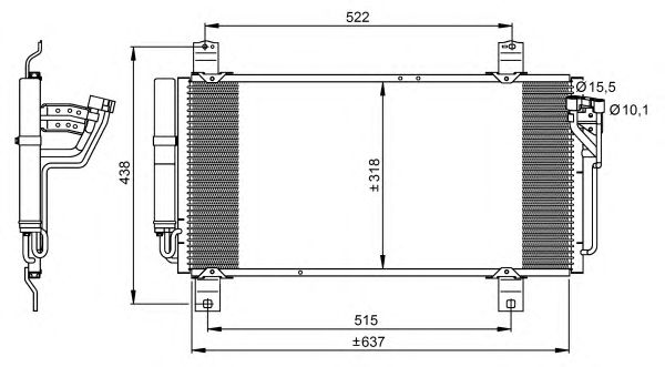 Радиатор кондиционера NRF 35949