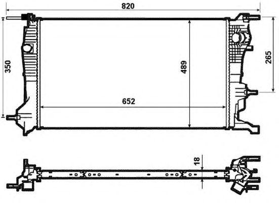 Радиатор, охлаждение двигателя NRF 53965