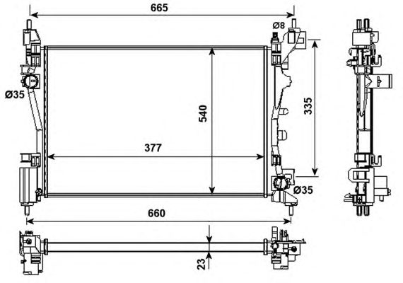 Радиатор, охлаждение двигателя NRF 53981