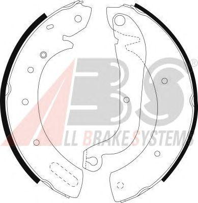 Тормозные колодки A.B.S. 8971