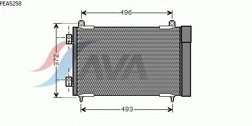Радиатор кондиционера AVA QUALITY COOLING PEA5258