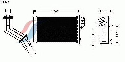 Радиатор отопителя AVA QUALITY COOLING RT6227