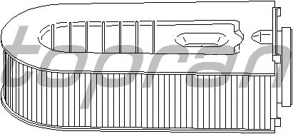 Воздушный фильтр TOPRAN 407 732