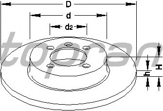 Тормозной диск TOPRAN 103 525