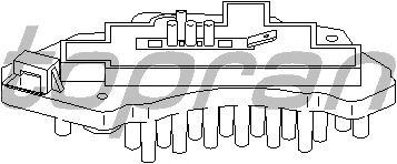 Регулятор, вентилятор салона TOPRAN 401 678