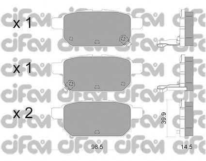 Тормозные колодки CIFAM 822-915-0