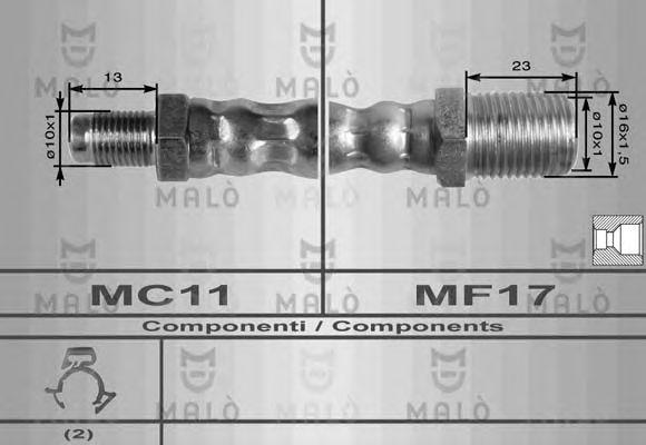 Тормозной шланг MALO 8623