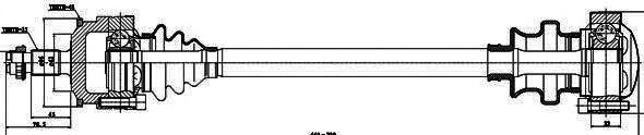 Приводной вал GSP 235009