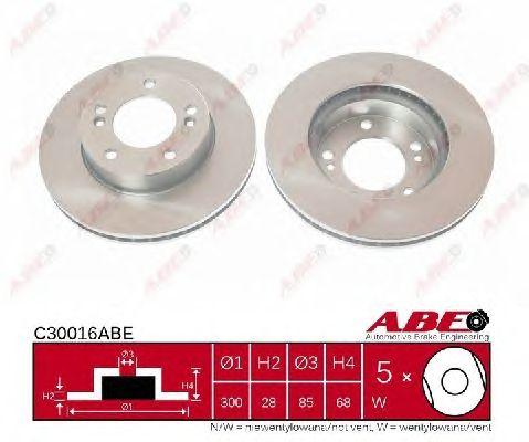 Тормозной диск ABE C30016ABE