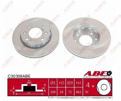 Тормозной диск ABE C30308ABE