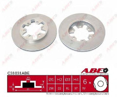 Тормозной диск ABE C31031ABE