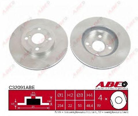 Тормозной диск ABE C32091ABE