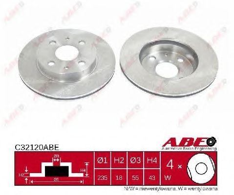 Тормозной диск ABE C32120ABE