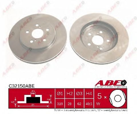Тормозной диск ABE C32150ABE