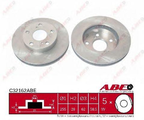 Тормозной диск ABE C32162ABE