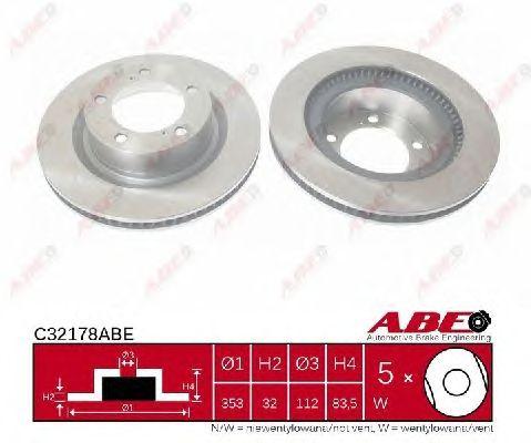 Тормозной диск ABE C32178ABE