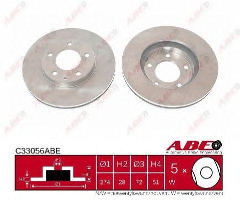 Тормозной диск ABE C33056ABE