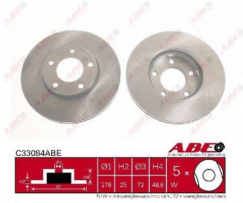 Тормозной диск ABE C33084ABE