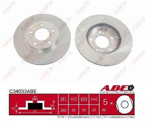 Тормозной диск ABE C34033ABE