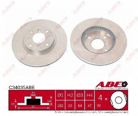 Тормозной диск ABE C34035ABE