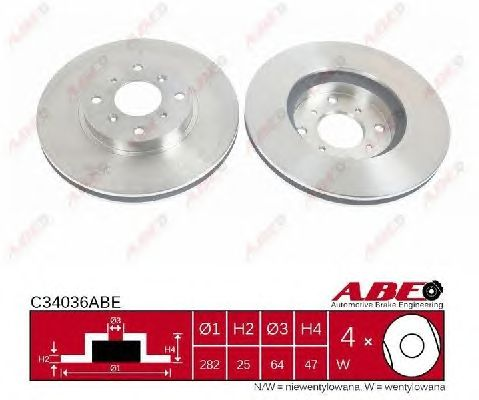 Тормозной диск ABE C34036ABE