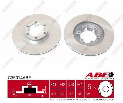 Тормозной диск ABE C35014ABE