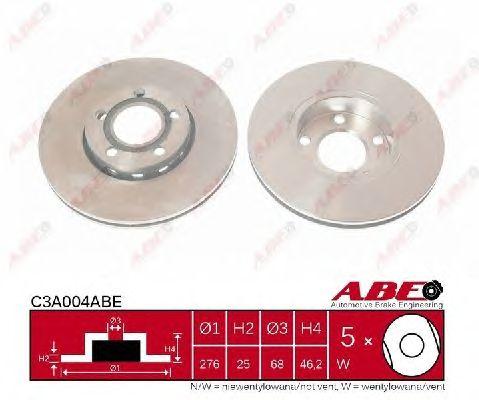 Тормозной диск ABE C3A004ABE