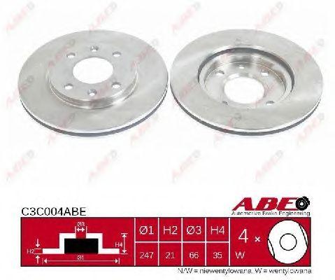 Тормозной диск ABE C3C004ABE