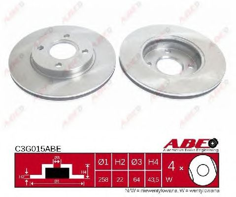 Тормозной диск ABE C3G015ABE