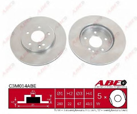 Тормозной диск ABE C3M014ABE